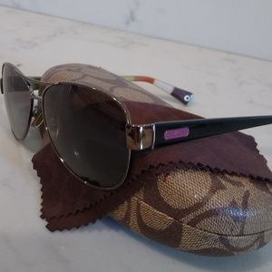 Authentic Coach Aviator Sunglasses